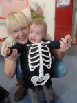 Skeleton & mum